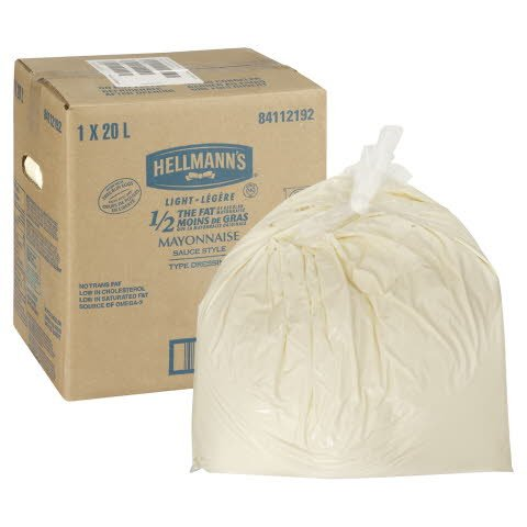 Hellmann's® 1/2 The Fat Light Mayonnaise 1 x 20 L -