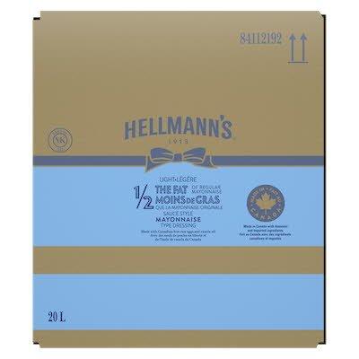 Hellmann's® 1/2 The Fat Light Mayonnaise 1 x 20 L -