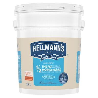 Hellmann's® 1/2 The Fat Light Mayonnaise Pail 1 x 20 L -