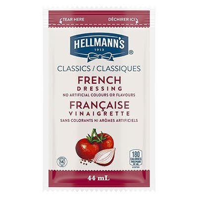 Hellmann's® Classics Salad Dressing Portion Control Sachet French 44ml, Pack of 102