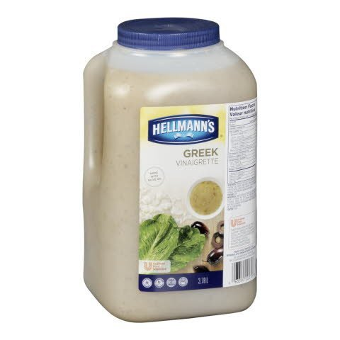 Hellmann's® Salad Dressing Jug Greek Vinaigrette 3.78 Liters, Pack of 2 -