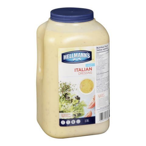Hellmann's® Salad Dressing Jug Light Italian 3.78 Liters, Pack of 2