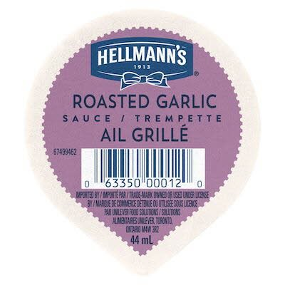 Hellmann's® Roasted Garlic Sauce Dip Cup 44 ml, pack of 108 -
