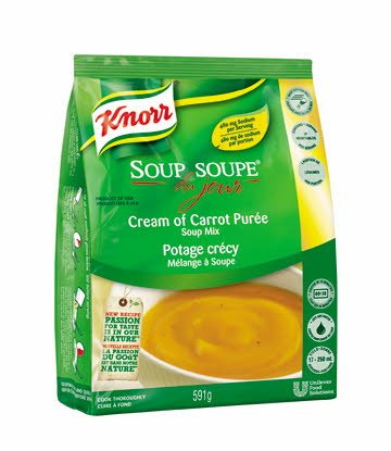 Knorr® Professional Soup Du Jour Mix Cream of Carrot Purée 4 x 591 gr -