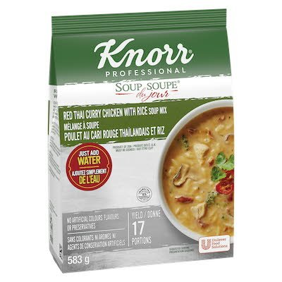 Knorr® Professional Soup Du Jour Mix Red Thai Curry Chicken with Rice 4 x 583 gr -