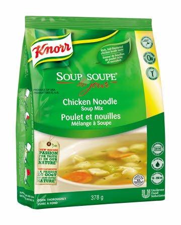 Knorr Soup Du Jour Chicken Noodle 378 g, Pack of 4 -