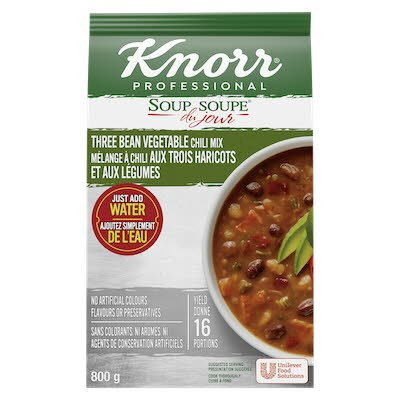 Knorr® Soup Du Jour Three Bean Vegetable Chili 4 x 800 gr -