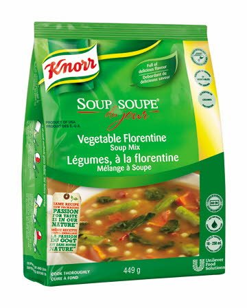 Knorr Soup Du Jour Vegetable Florentine 449 g, Pack of 4 -