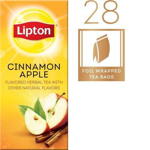 Lipton® Hot Tea Bags Enveloped Cinnamon Apple pack of 6, 28 count