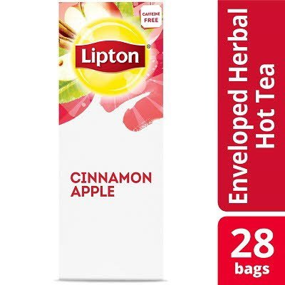 Lipton® Hot Tea Bags Enveloped Cinnamon Apple pack of 6, 28 count