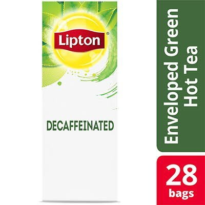 Lipton® Hot Tea Bags Enveloped Decaffeinated Green pack of  6, 28 count