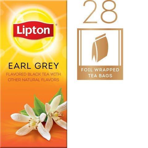 Lipton® Hot Tea Bags Enveloped Earl Grey Tea Pack of 6, 28 count