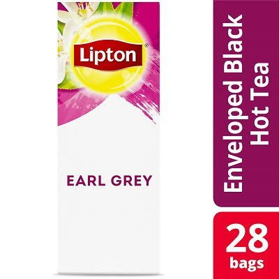 Lipton® Hot Tea Bags Enveloped Earl Grey Tea Pack of 6, 28 count -