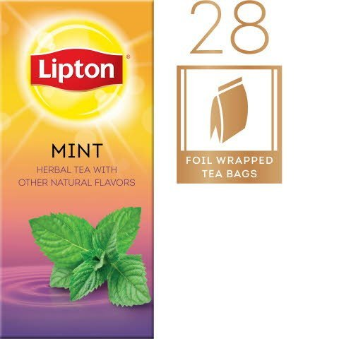 Lipton® Hot Tea Bags Enveloped Mint pack of 6, 28 count -