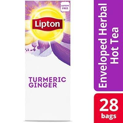 Lipton® Hot Tea Bags Enveloped Turmeric Ginger pack of 6, 28 count