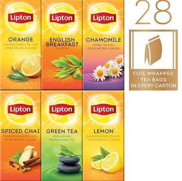Lipton® Lipton Hot Tea Bags Enveloped Black/Herbal Variety Pack 28 count, Pack of 6 -