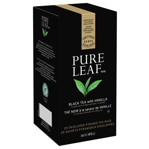 Pure Leaf Hot Tea Bags Black Tea with Vanilla 6/25 ct - 10041000724258
