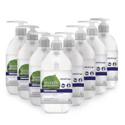 Seventh Generation Professional Liquid Hand Soap Dispenser 8 x 350 ml -