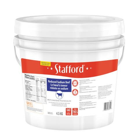 Stafford® Blue Label Reduced Sodium Beef Bouillon Base 1 x 4.5 kg -