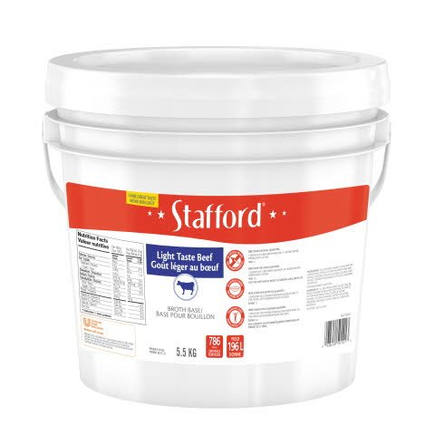 Stafford® Red Label Light Taste Beef Broth Base 1 x 5.5 kg -