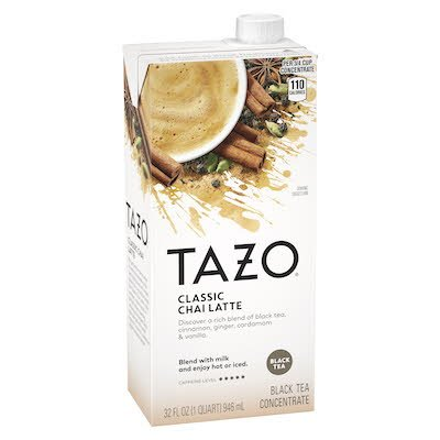 TAZO® Concentrate Classic Chai Latte 1:1 946 milliliters, pack of 6 - TAZO® offers teas with a twist for deliciously unique flavours