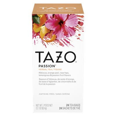 TAZO® Hot Tea Filterbag Passion 24 count, pack of 6 - TAZO® offers teas with a twist for deliciously unique flavours