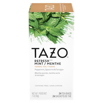 TAZO® Hot Tea Filterbag Refresh Mint 24 count, pack of 6 - TAZO® offers teas with a twist for deliciously unique flavours