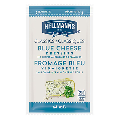 Hellmann's® Classics Blue Cheese Dressing Sachet 102 x 44 ml - Hellmann's® Classics Blue Cheese Dressing Sachet: To your best salads with dressing that looks, performs and tastes like you made it yourself.