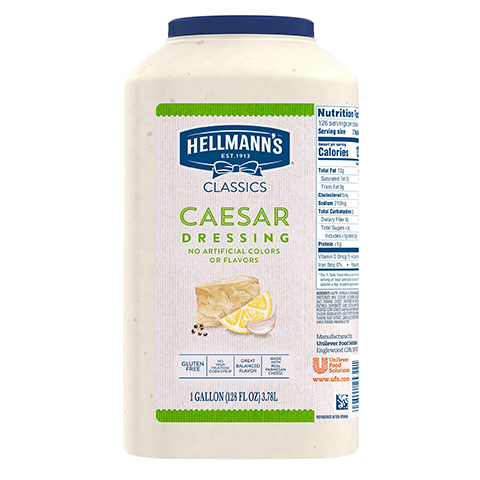 Hellmann's® Classics Caesar Dressing 2 x 3.78 L - Hellmann's® Classics Caesar Dressing: To your best salads with dressing that looks, performs and tastes like you made it yourself.