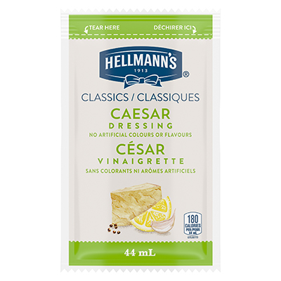 Hellmann's® Classics Caesar Dressing Sachet 44 ml, pack of 102 - Hellmann's® Classics Caesar Dressing Sachet: To your best salads with dressing that looks, performs and tastes like you made it yourself.