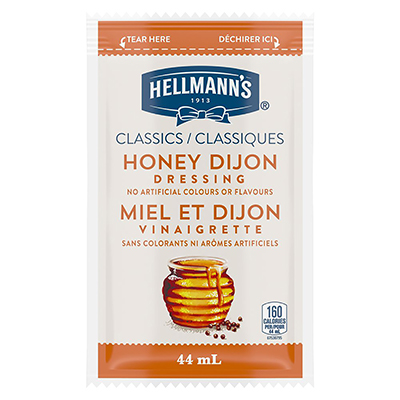Hellmann's® Classics Honey Dijon Dressing Sachet 102 x 44 ml - Hellmann's® Classics Honey Dijon Dressing Sachet: To your best salads with dressing that looks, performs and tastes like you made it yourself