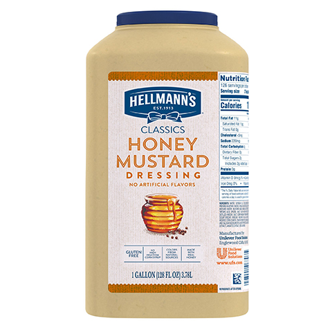 Hellmann's® Classics Salad Dressing Honey Dijon 3.78 liters, pack of 2 -