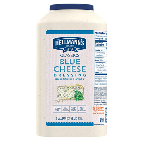 Hellmann's® Classics Salad Dressing Jug Blue Cheese 3.78 liters, pack of 2 -