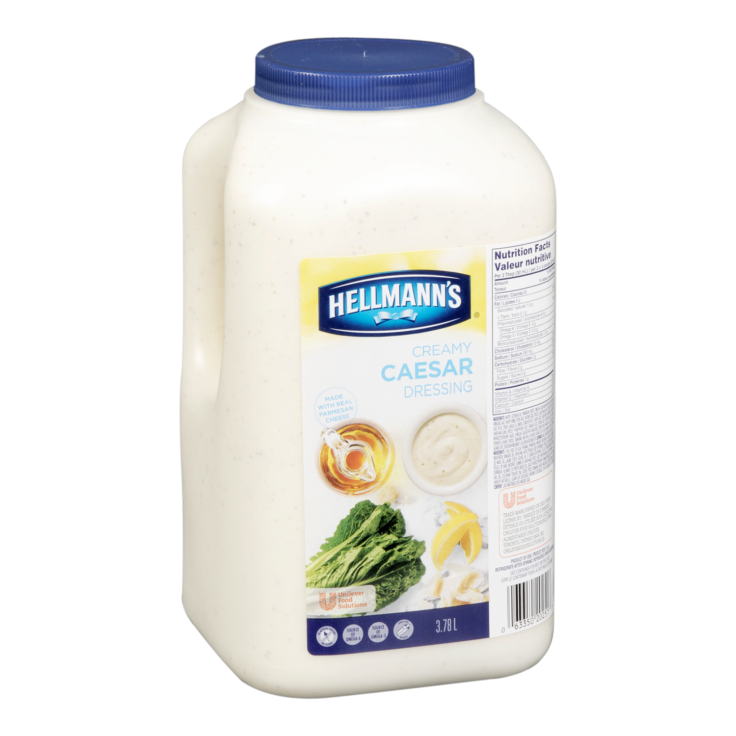 Hellmann's® Classics Salad Dressing Jug Caesar 3.78 liters, pack of 2