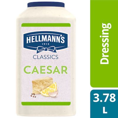 Hellmann's® Classics Salad Dressing Jug Caesar 3.78 liters, pack of 2 - To your best salads with dressing that looks, performs and tastes like you made it yourself.