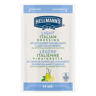 Hellmann's® Light Italian Dressing Sachet 102 x 44 ml - Hellmann's® Light Italian Dressing Sachet: To your best salads with dressing that looks, performs and tastes like you made it yourself.