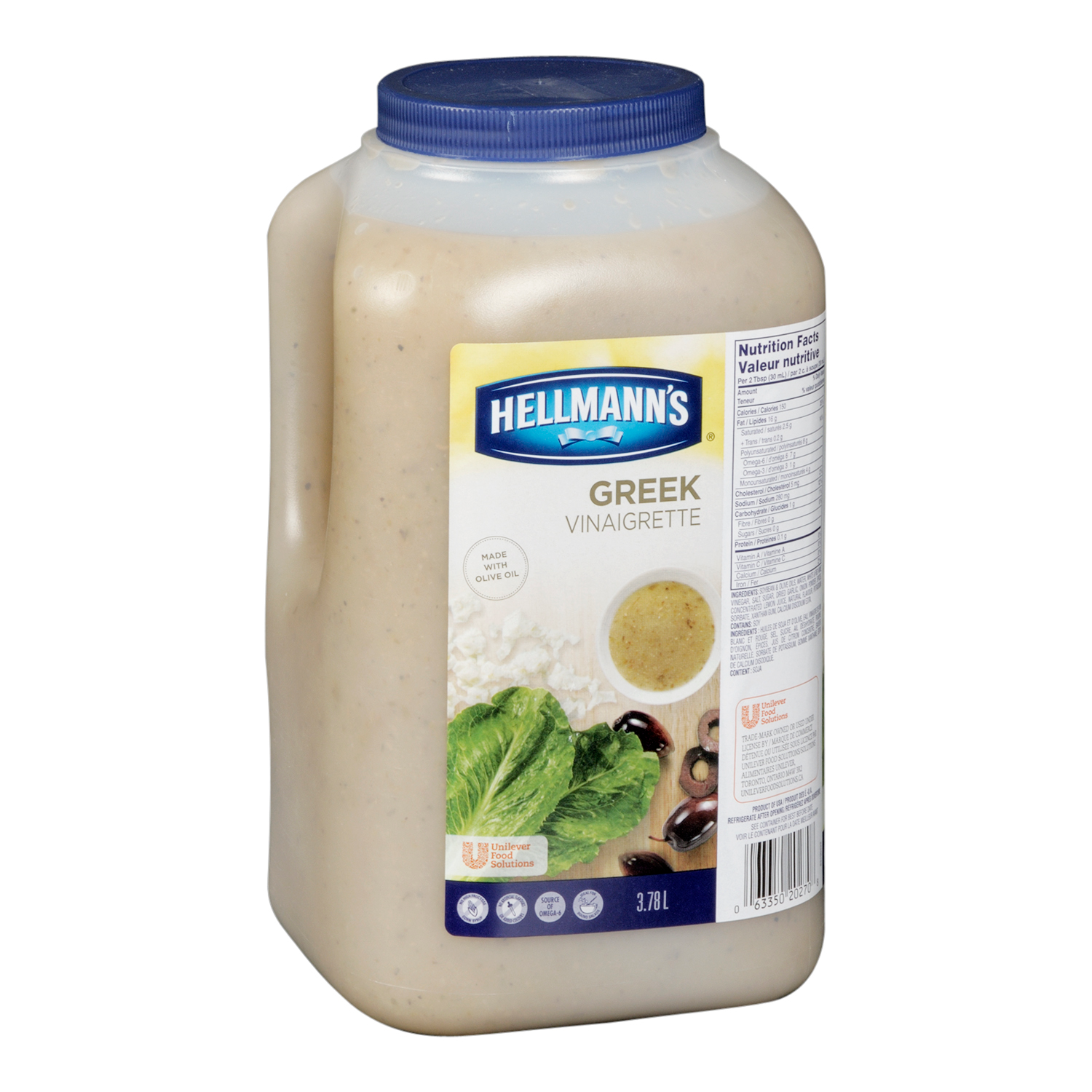 Hellmann's® Salad Dressing Jug Greek Vinaigrette 3.78 liters, pack of 2