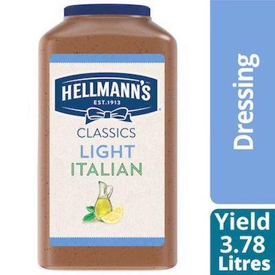 Hellmann's® Salad Dressing Jug Light Italian 3.78 liters, pack of 2 -