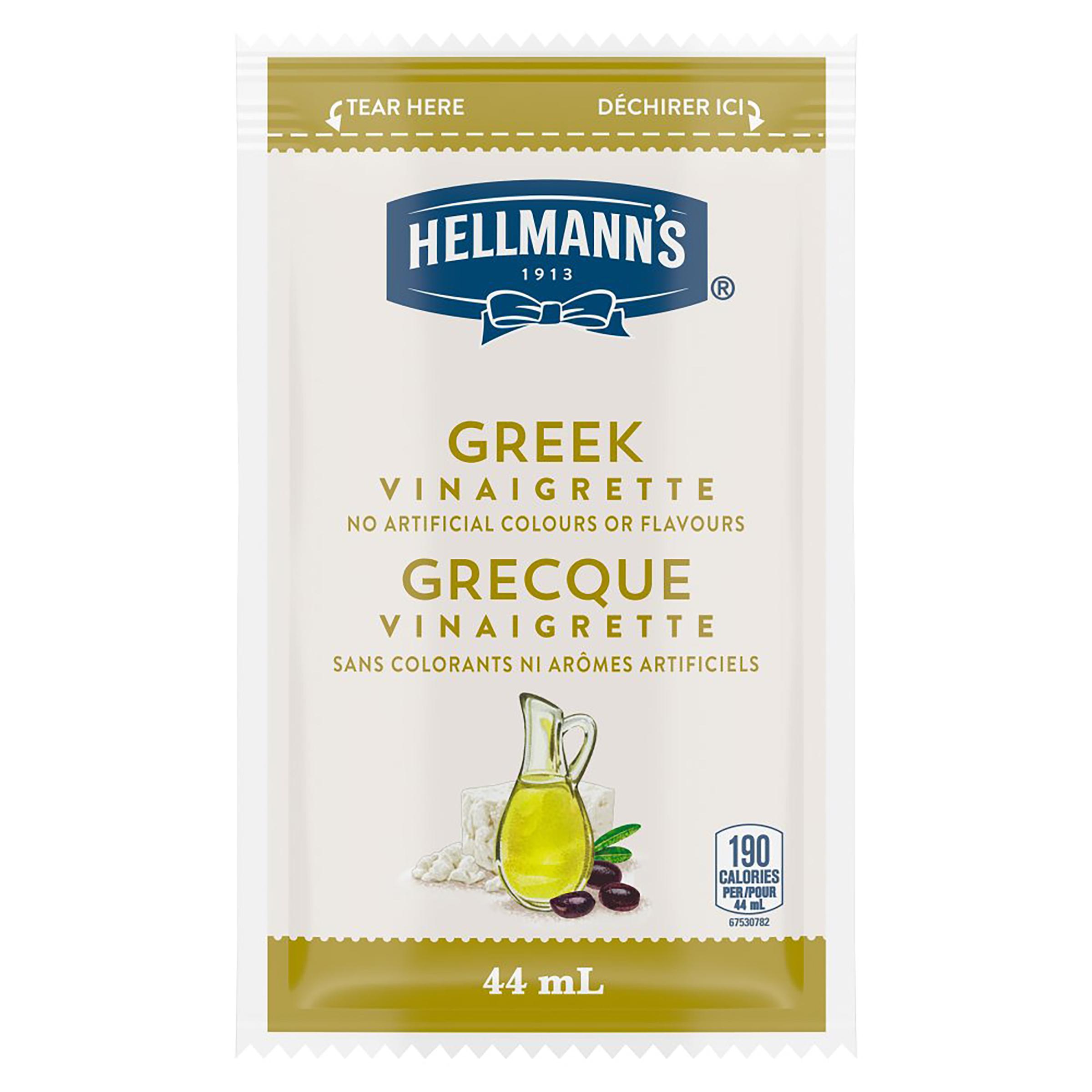 Hellmann's® Salad Dressing Portion Control Sachet Greek Vinaigrette 44 ml, pack of 102 -