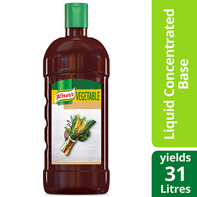 Knorr® Professional Liquid Concentrated Base Vegetable 946 ml, pack of 4 - Deliver simple, clean food with ease. Knorr® Bases are reinvented by our chefs with your kitchen and your customers in mind.
