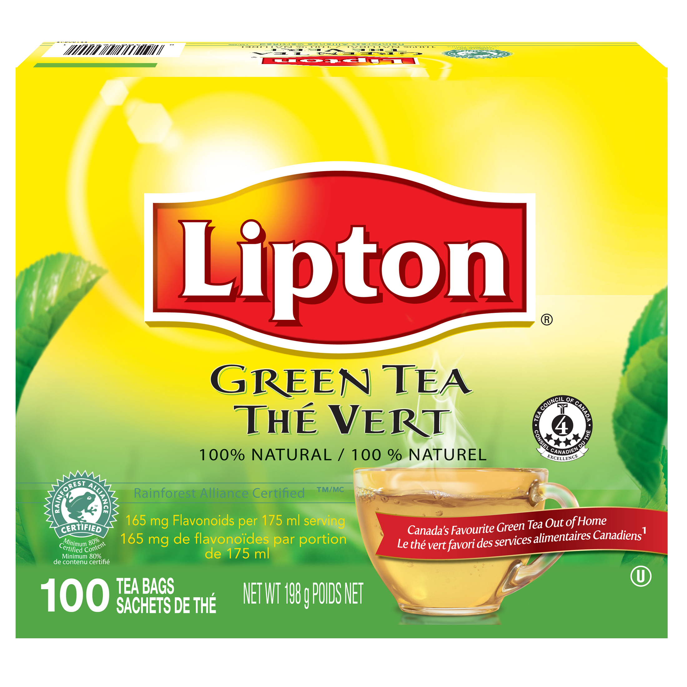 Lipton® Green Tea 5 x 100 bags - Lipton varieties suit every mood.
