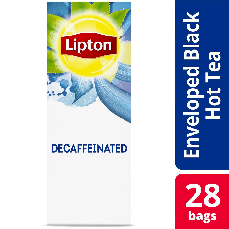 Lipton®  Hot Tea Bags Decaffeinated Black pack of 6, 28 count -