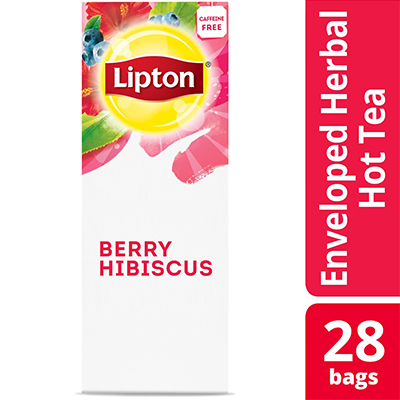 Lipton® Hot Tea Bags Enveloped Berry Hibiscus pack of 6, 28 count -