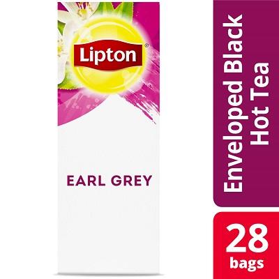 Lipton® Hot Tea Bags Enveloped Earl Grey Tea pack of 6, 28 count -