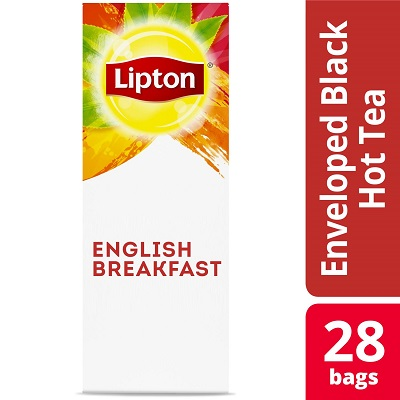 Lipton® Hot Tea Bags Enveloped English Breakfast pack of 6, 28 count -