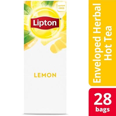 Lipton® Hot Tea Bags Enveloped Lemon pack of 6, 28 count -