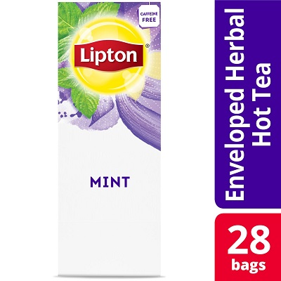 Lipton® Hot Tea Bags Enveloped Mint pack of 6, 28 count -