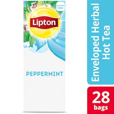 Lipton® Hot Tea Bags Enveloped Peppermint pack of 6, 28 count -