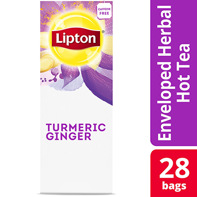 Lipton® Hot Tea Bags Enveloped Turmeric Ginger pack of 6, 28 count -