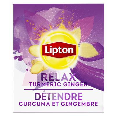 Lipton® Hot Tea Bags Enveloped Turmeric Ginger pack of 6, 28 count -
